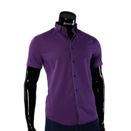 Мужская рубашка однотонная с коротким рукавом GF 0611-2