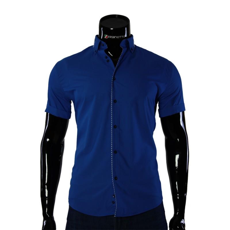 Мужская однотонная рубашка с коротким рукавом GF 0611-4