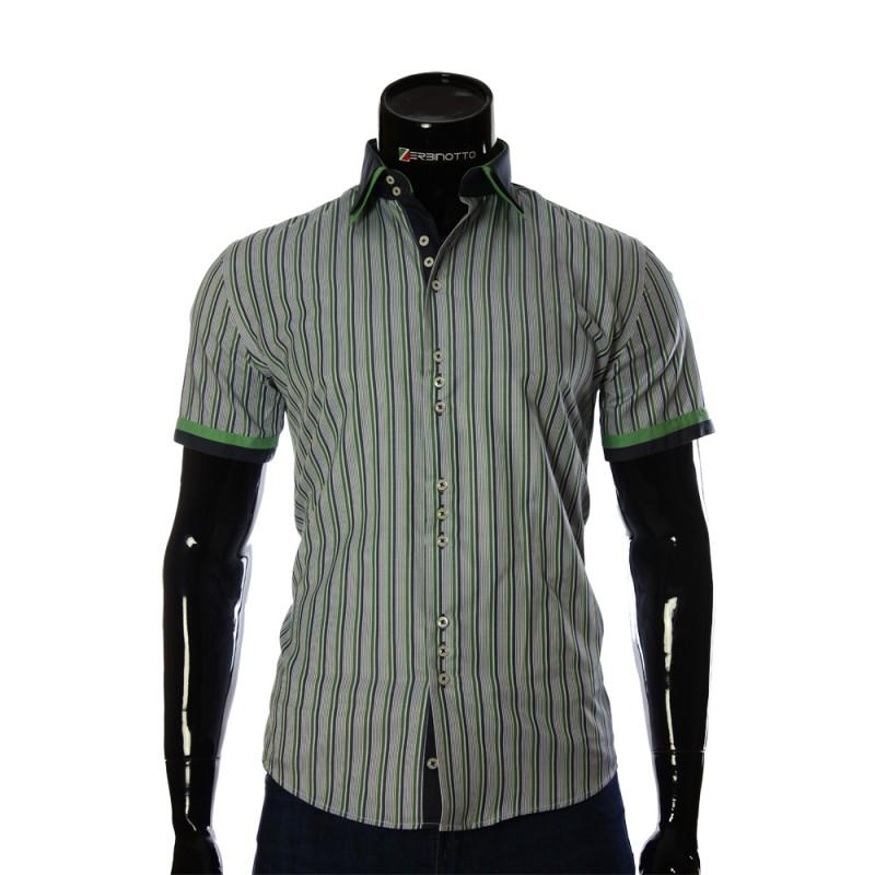 Мужская рубашка в полоску с коротким рукавом GF 0848-2