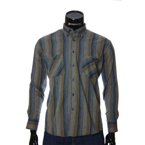 Men's flannel striped shirt RNM 1851-13