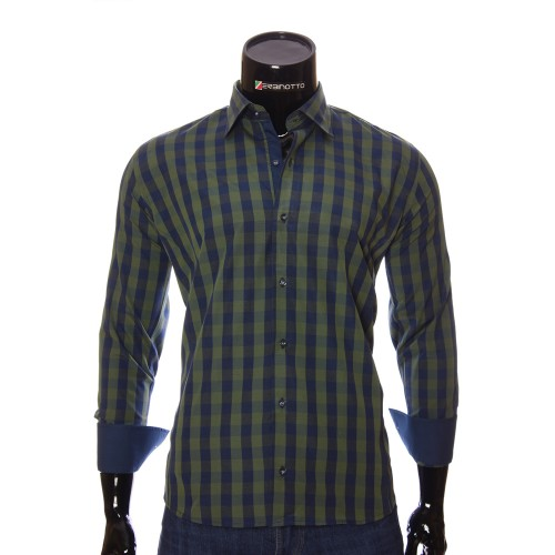 Men`s Regular Fit plaid shirt RNM 1845-4