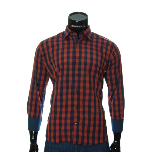 Men`s Regular Fit plaid shirt RNM 1845-5