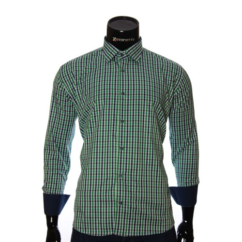 Men`s Regular Fit plaid shirt RNM 1845-10