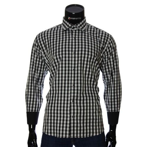Мужская полуприталенная рубашка в клетку RNM 1845-21