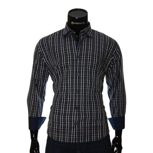 Men`s Regular Fit plaid shirt RNM 1845-27