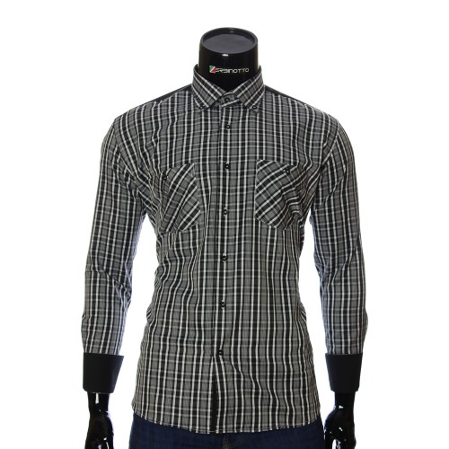 Men`s Regular Fit plaid shirt CD 1847-28