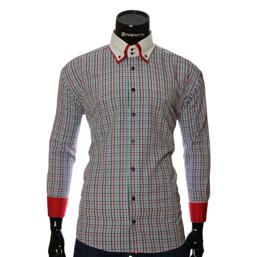 Men`s Regular Fit checkered shirt W 1881-38