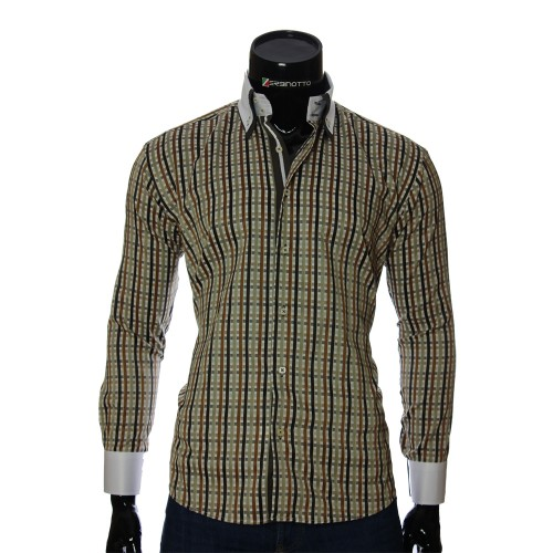 Men`s Regular Fit plaid shirt W 1881-6