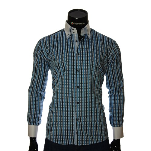 Men`s Regular Fit plaid shirt W 1881-7