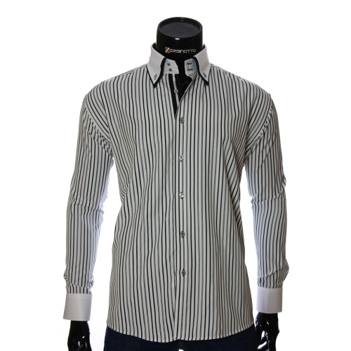 Men`s Regular Fit striped shirt W 1881-9