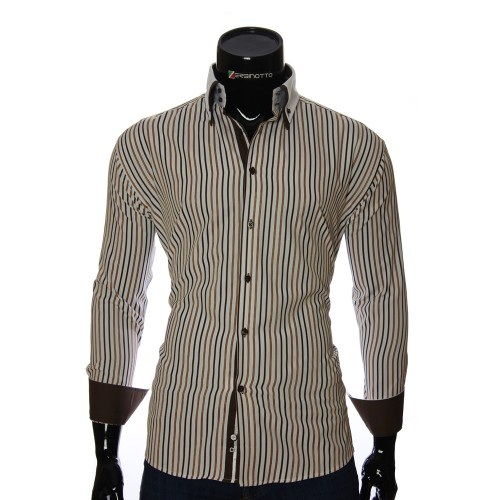 Men`s Regular Fit striped shirt W 1881-10