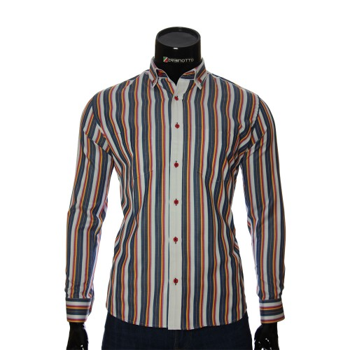 Men`s Regular Fit striped shirt SAR 1888-3
