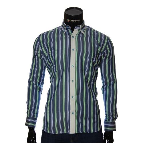 Мужская полуприталенная рубашка в полоску SAR 1888-14