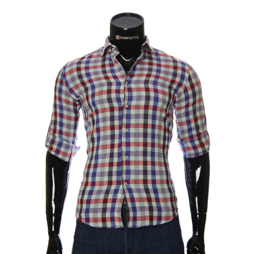 Men`s Slim Fit plaid shirt GF 0111-1