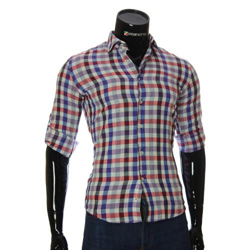 Мужская приталенная рубашка в клетку GF 0111-1