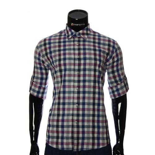 Мужская приталенная рубашка в клетку GF 0111-3