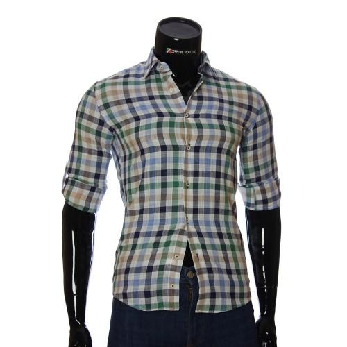Мужская приталенная рубашка в клетку GF 0111-4