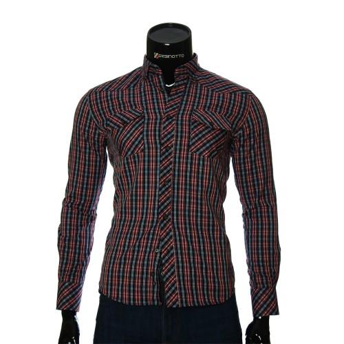 Мужская приталенная рубашка в клетку GF 0114-5