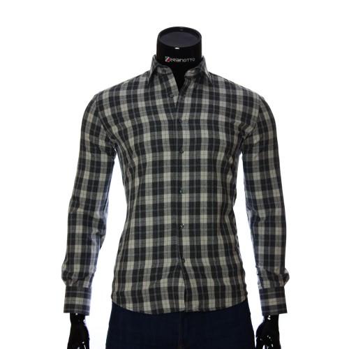 Мужская приталенная рубашка в клетку GF 2940-8