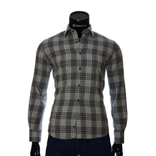 Мужская приталенная рубашка в клетку GF 2940-9