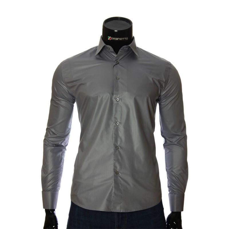 3b03dbd12cb Мужская серая рубашка Zerbinotto под запонки. Рубашки купить