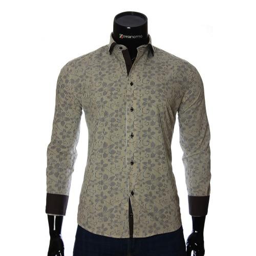 Мужская приталенная рубашка в узор NP 1280-2