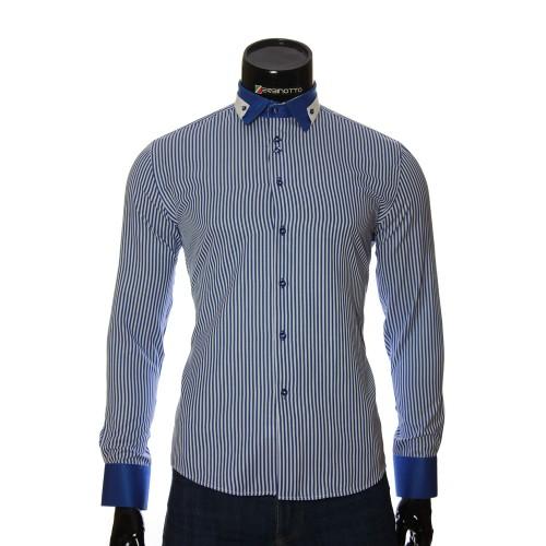 Мужская приталенная рубашка в полоску NP 1570-1
