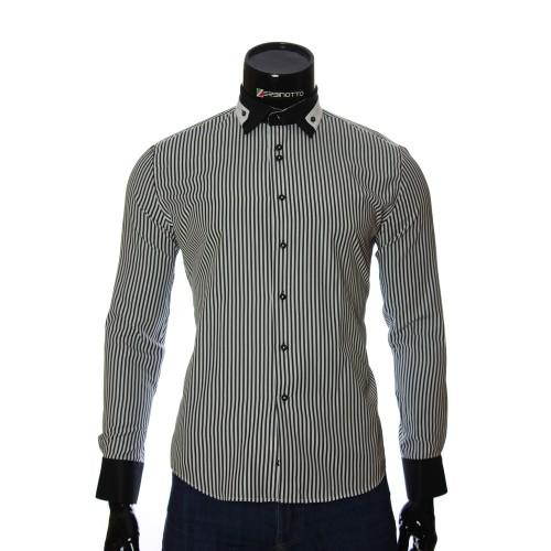 Мужская приталенная рубашка в полоску NP 1570-2