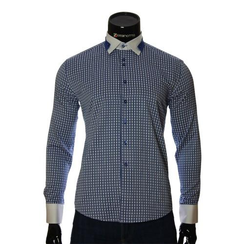 Мужская приталенная рубашка в клетку NP 1570-4