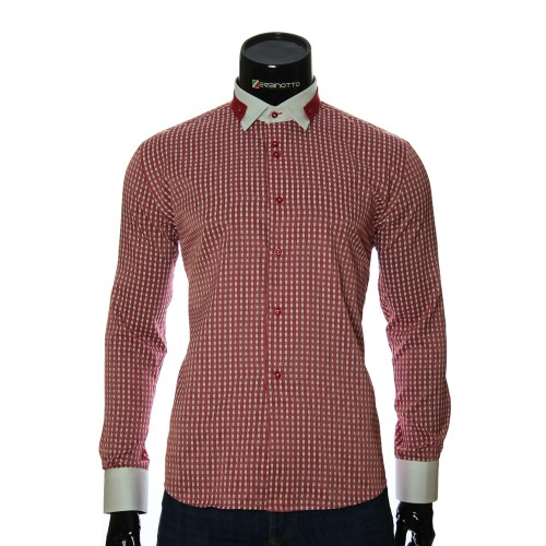 Men`s Slim Fit checkered shirt NP 1570