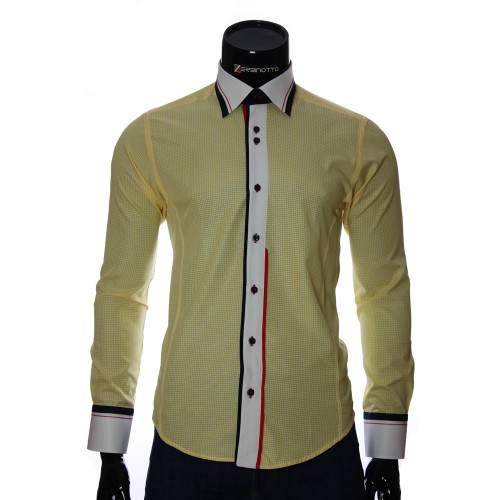 Men`s Slim Fit checkered shirt BEL 1840-4