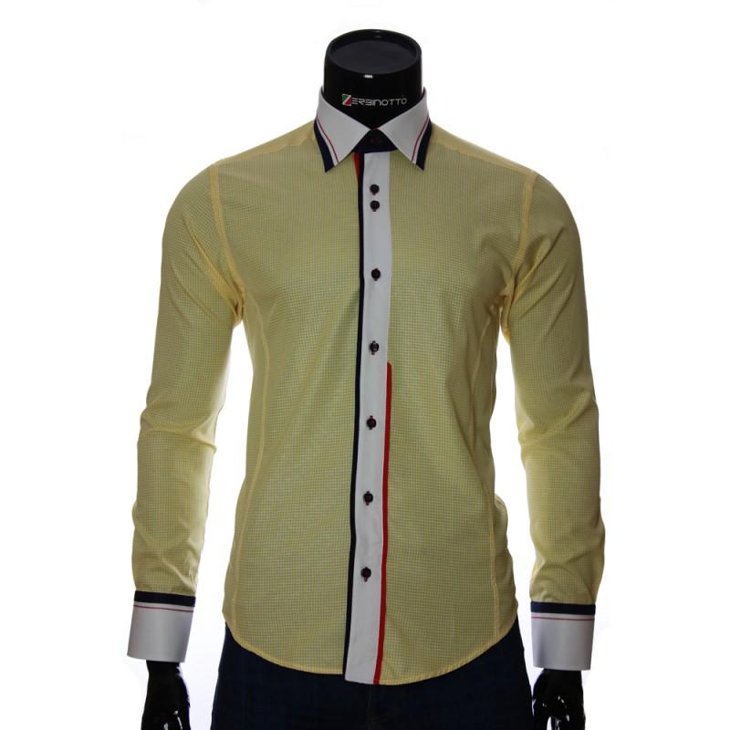 Мужская приталенная рубашка в клетку BEL 1840-4