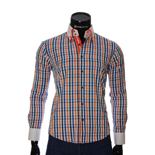 Men`s Slim Fit checkered shirt BEL 1855-7