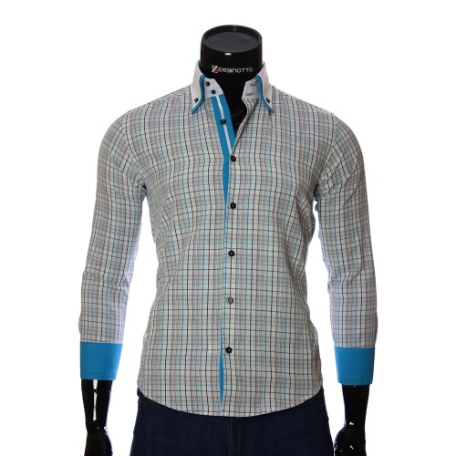 Men`s Slim Fit checkered shirt BEL 1855-14