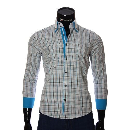 Мужская приталенная рубашка в клетку BEL 1855-14