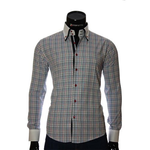 Men`s Slim Fit checkered shirt BEL 1855-15