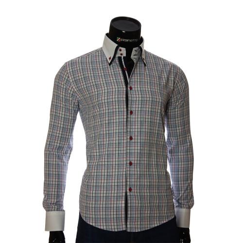 Мужская приталенная рубашка в клетку BEL 1855-15