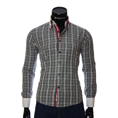 Men`s Slim Fit checkered shirt BEL 1855-16