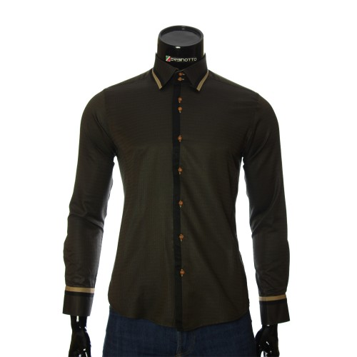 Men`s Slim Fit pattern shirt BEL 1856-1