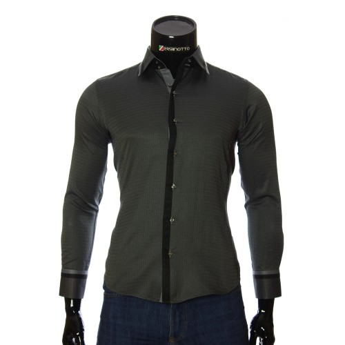 Men`s Slim Fit pattern shirt BEL 1856-4