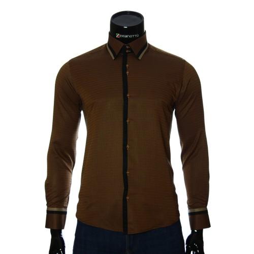 Мужская приталенная рубашка в узор BEL 1856-5