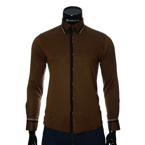 Men`s Slim Fit pattern shirt BEL 1856-5