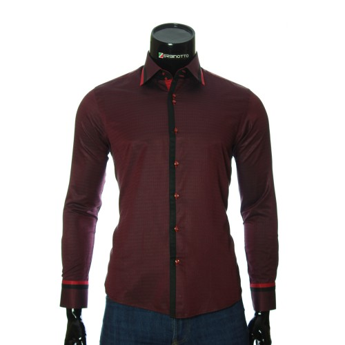 Men`s Slim Fit pattern shirt BEL 1856-6