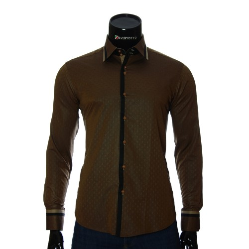 Men`s Slim Fit pattern shirt BEL 1856-7