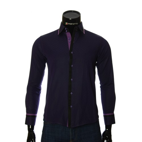 Men`s Slim Fit pattern shirt BEL 1856-8