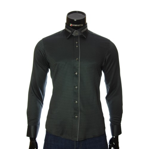 Men`s Slim Fit pattern shirt BEL 1857-1