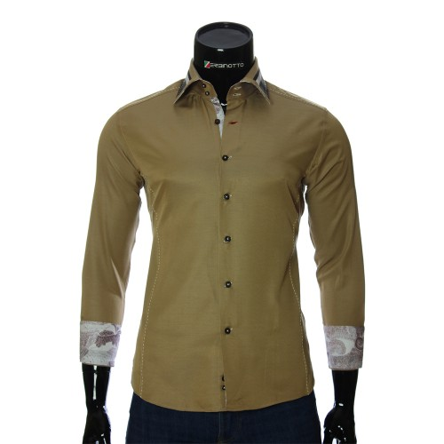 Men`s Slim Fit plain shirt BEL 1864-8