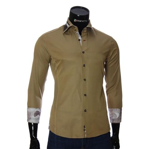 Мужская однотонная приталенная рубашка BEL 1864-8