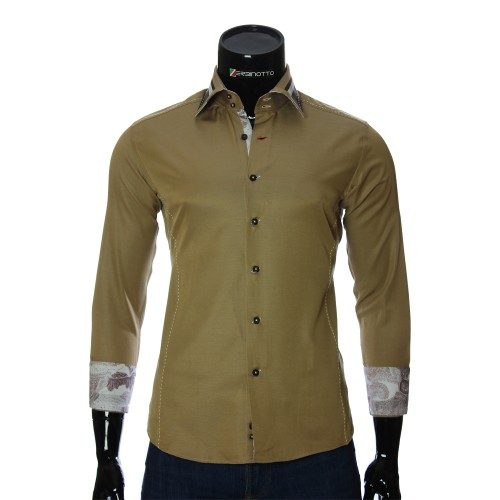 Brown slim fit shirt BEL 1864-24