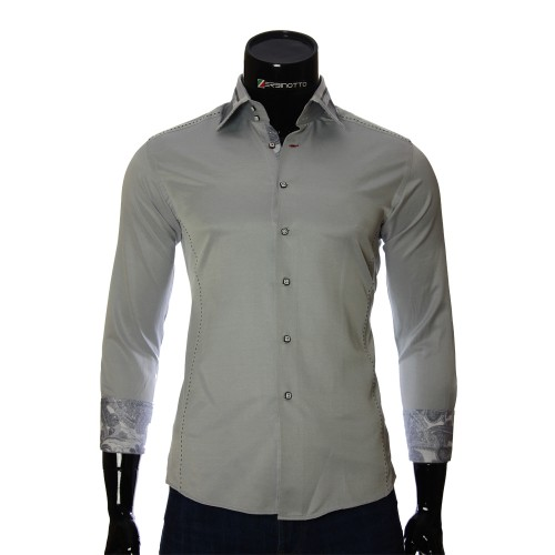 Gray slim fit shirt BEL 1864-27
